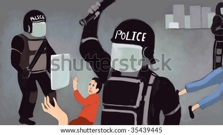 police (search the word nikos for more) - stock photo