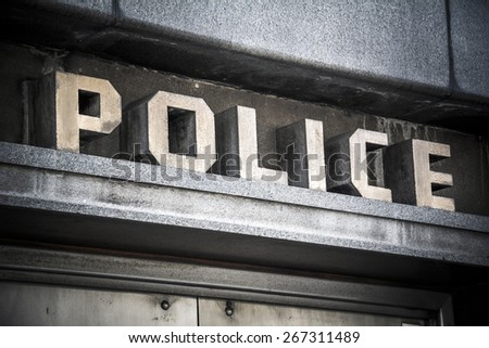 Police sign - stock photo