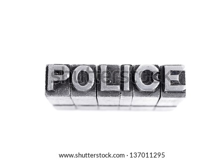 Police sign,  isolated - stock photo