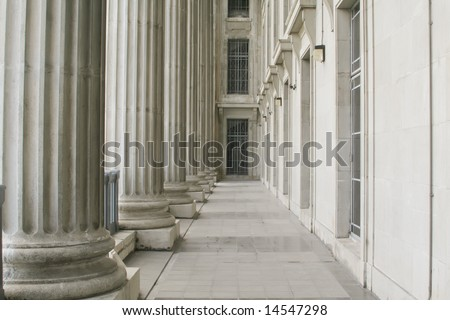 Police Station Representing Justice - stock photo