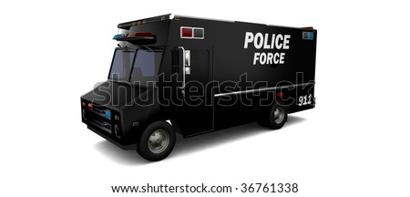 Police SWAT van / vehicle - stock photo