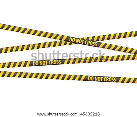 Police tapes - stock photo