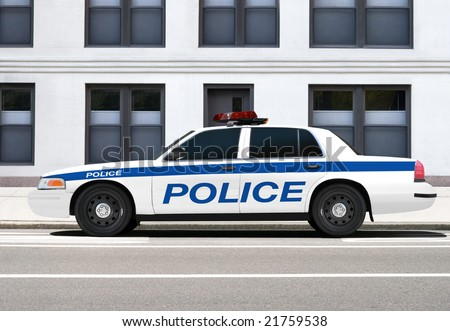 Police vehicle - stock photo