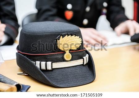 policeman's hat - stock photo