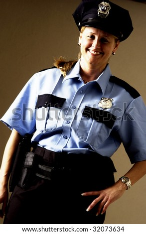 Policewoman - stock photo