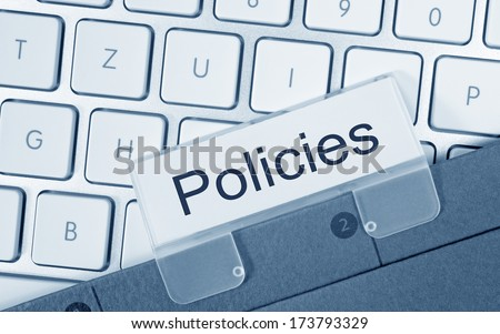 Policies - stock photo