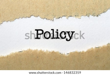 Policy - stock photo