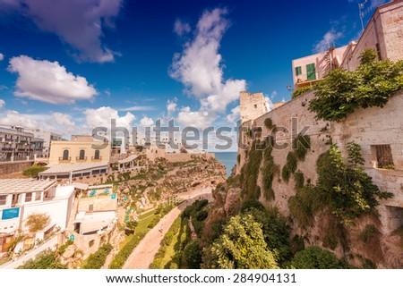 Polignano a Mare, Apulia.. - stock photo