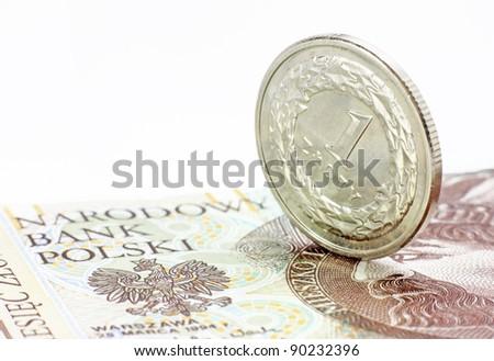 Polish coin - stock photo
