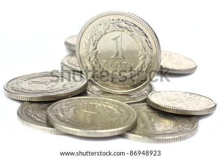Polish coins - stock photo