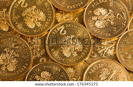 Polish coins,money - stock photo