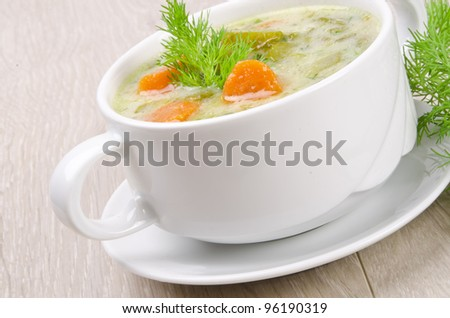 Polish cucumber soup