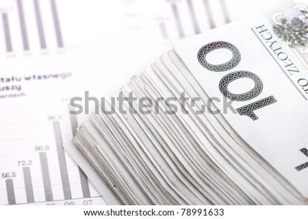 Polish currency - money PLN - stock photo