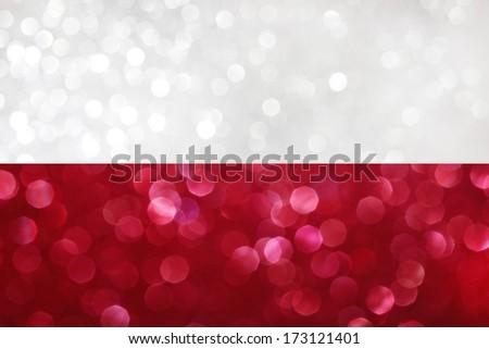 Polish flag - stock photo