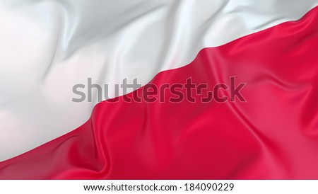 Polish flag - stock photo