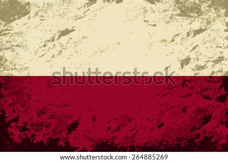 Polish flag Grunge background. Raster version