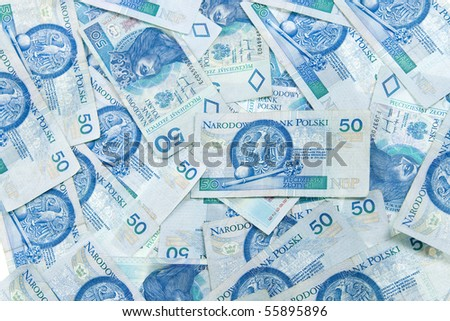 "Polish money ""50 zloty"" - stock photo"