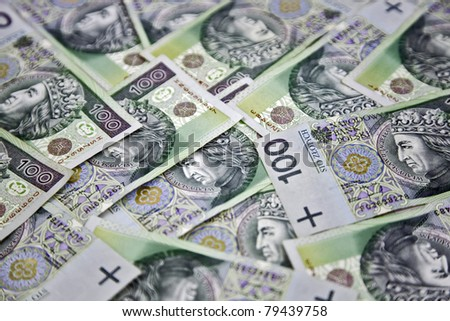 "Polish money ""100 zloty"" - stock photo"