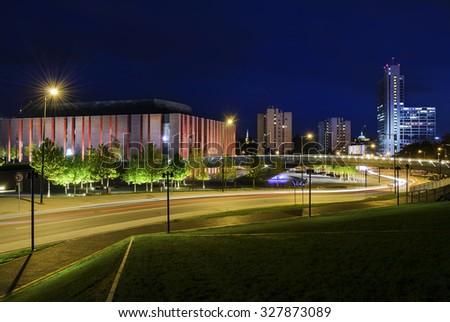 Polish National Radio Symphony Orchestra in the centre of Katowice - stock photo