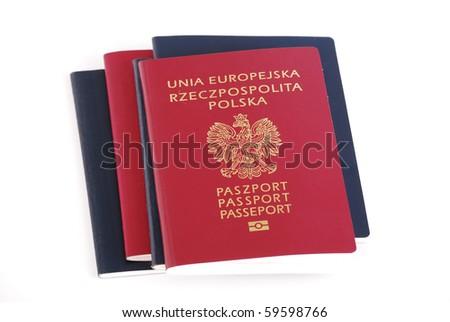 Polish passports - stock photo