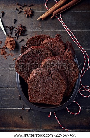 Polish spiced honey cake for Christmas - stock photo