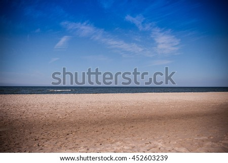 Polish summer by the  Baltic Sea - stock photo