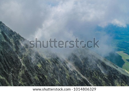 Polish Tatra mountains landscape