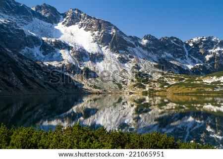 Polish Tatra mountains - valley of five ponds  - stock photo