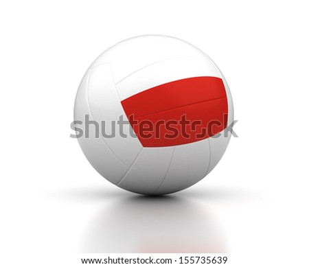 Polish Volleyball Team (isolated with clipping path) - stock photo