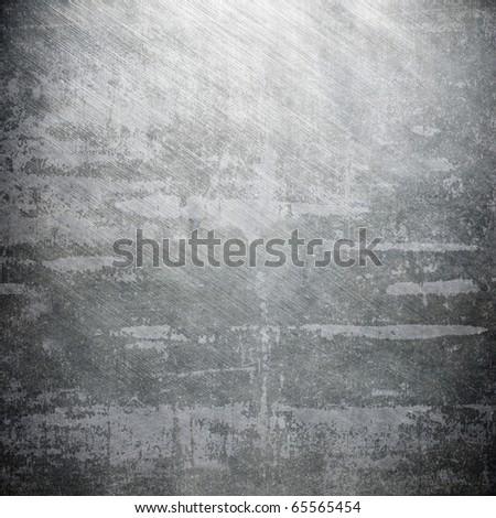 Polished iron plate - stock photo