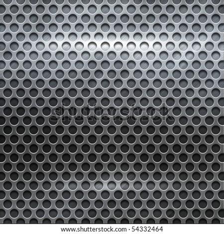 polished metal grid (big templates pack) - stock photo