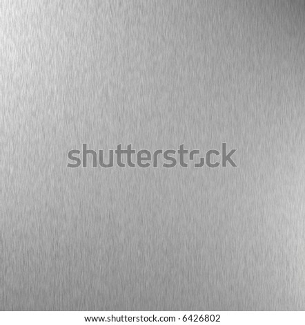 Polished metal plate, abstract background - stock photo
