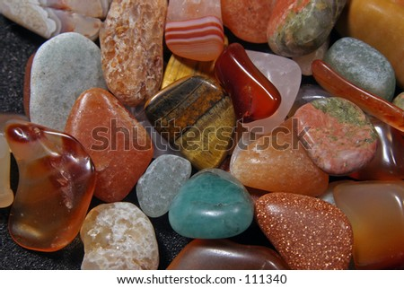 polished stones - stock photo