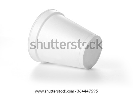 Polistren foam takeaway coffe cup with clipping path - stock photo