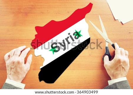 Political and war crisis in Syria. Abstract conceptual image - stock photo
