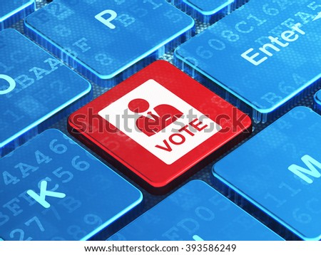 Political concept: Ballot on computer keyboard background - stock photo
