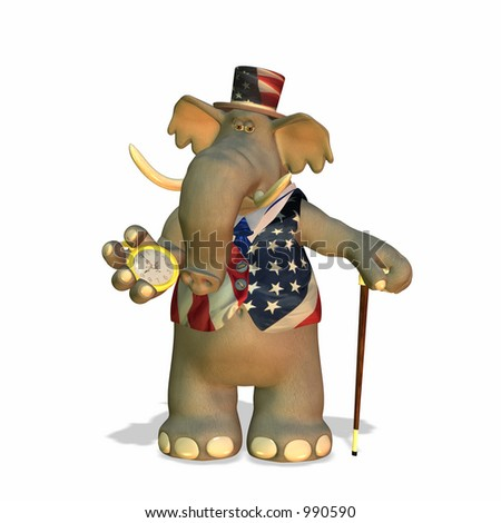 Political Elephant Can be used to represent the Republican Party (GOP) - stock photo