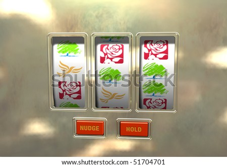 Political gamble - stock photo