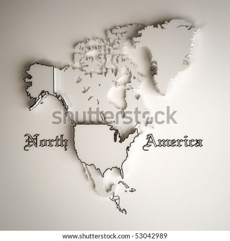 Political Map Of North America With Country Territories