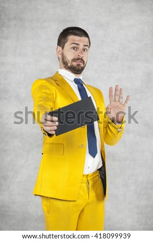 politician does not want to bribe - stock photo