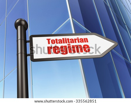 Politics concept: sign Totalitarian Regime on Building background, 3d render - stock photo