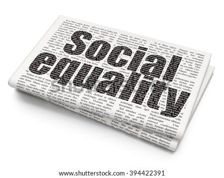Politics concept: Social Equality on Newspaper background - stock photo