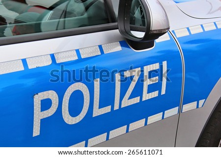 Polizei - stock photo