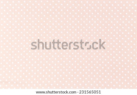 Polka dot fabric background and texture - stock photo