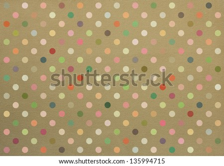 Polka dot fabric background in retro style - stock photo