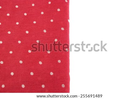 Polka Dot Pattern Fabric Background Texture - stock photo