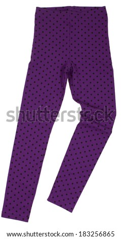 Polka-dot sweatpants isolated on white background - stock photo