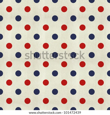 Polka Dot texture pattern with the colors of the American flag - stock photo