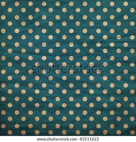 polka dot vintage pattern, dark blue - stock photo