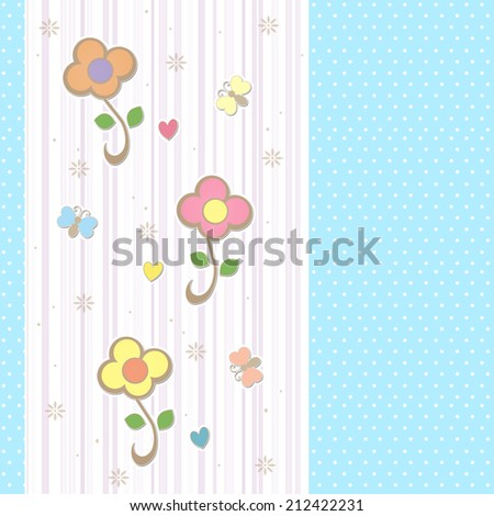 Polka Dots and Flowers - Text